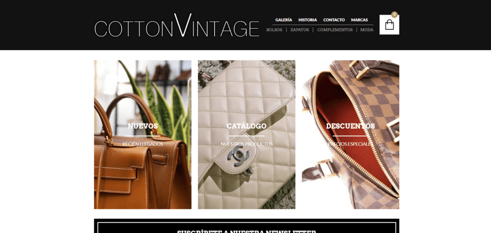sitios web wordpress cotton vintage